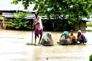 banjir di assam india